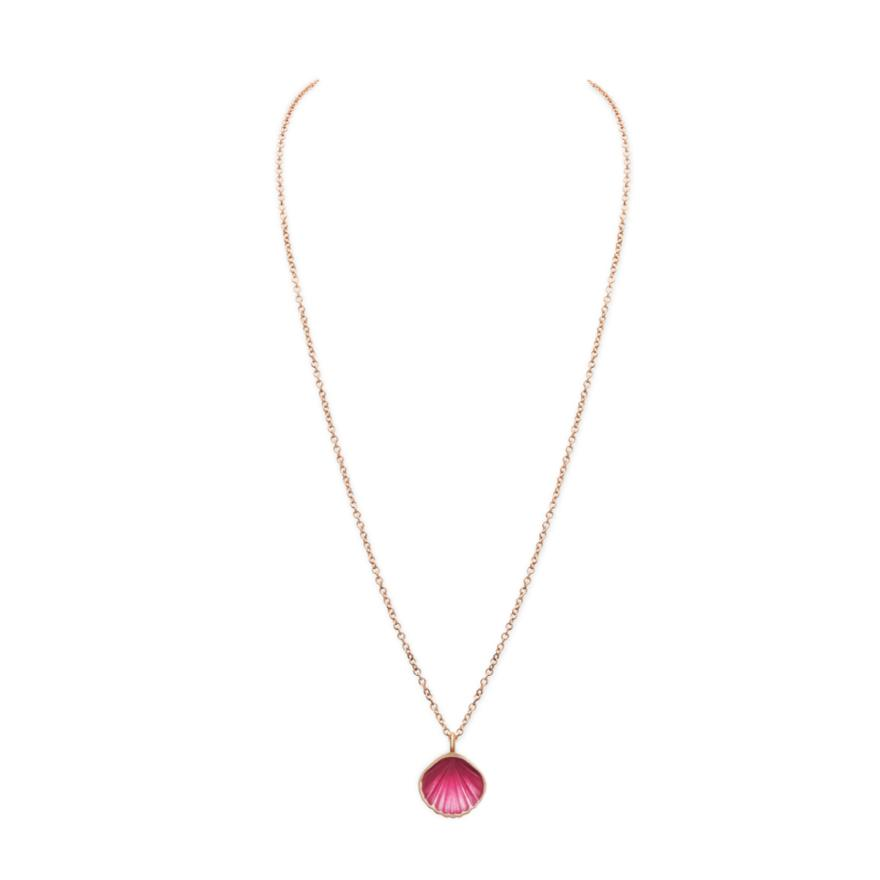 Yellow Gold-Pink Enamel