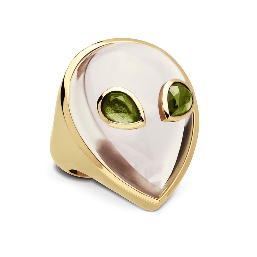 Yellow Gold-Peridots