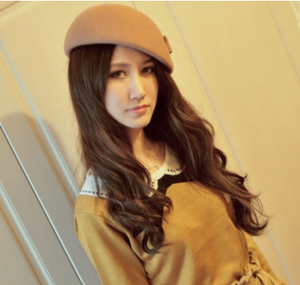 Cotton-Wool Beret Cap