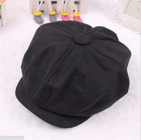 Gorras Planas Solid Boina Wool Beret Hat