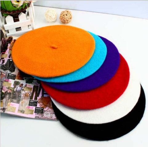 Sorrynam Wool-Cotton-Polyester Beret Hat