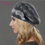 Illfly Cotton-Wool Beret Hat