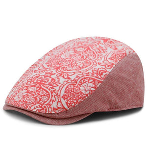 Flower Printed Adjustable Berets for Men & Women