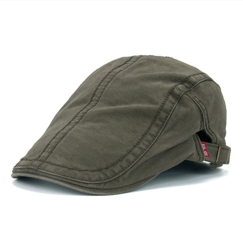 New Casual Peaked Plain Cotton Berets