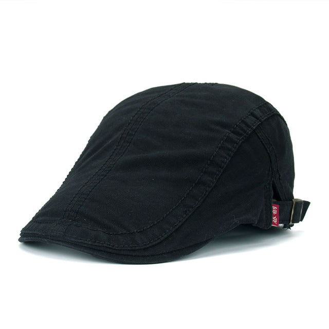 Joymay Casual Peaked Cotton Berets for Men