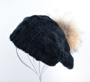 Casual Women Cotton-Acrylic Fur Beret