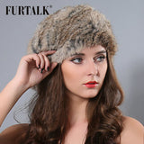Russian Design Rabbit Fur Beret Hat