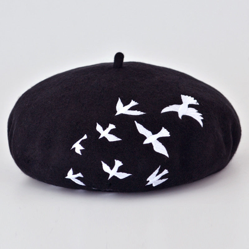 Artist Boina Wool Embroidered Cap