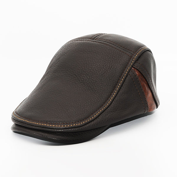 Genuine Leather Fashion Berets for Men