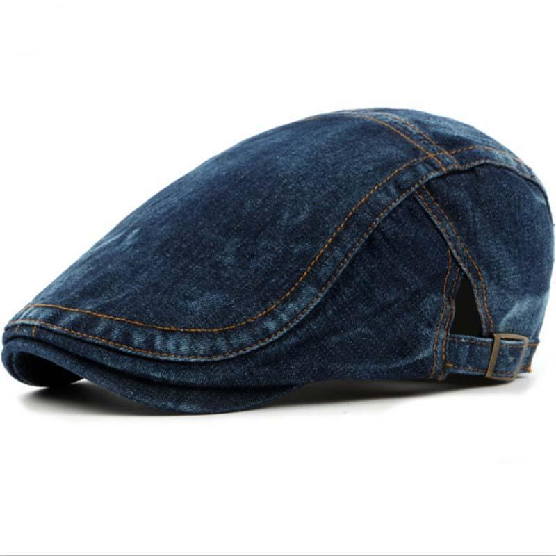 Edgy Beret Hats In Denim For The Winter