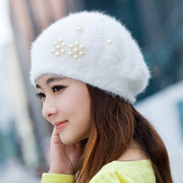 Iduolelele Cotton-Rabbit Fur Beannie Cap