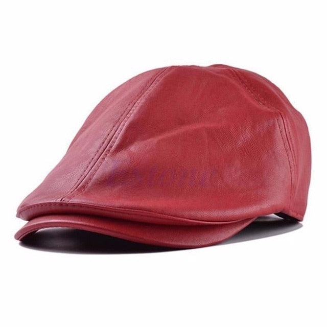 Gatsby Faux Leather Cap