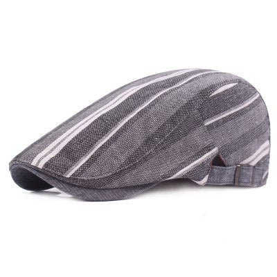 2019 Striped Casual Cotton Beret for Men & Women