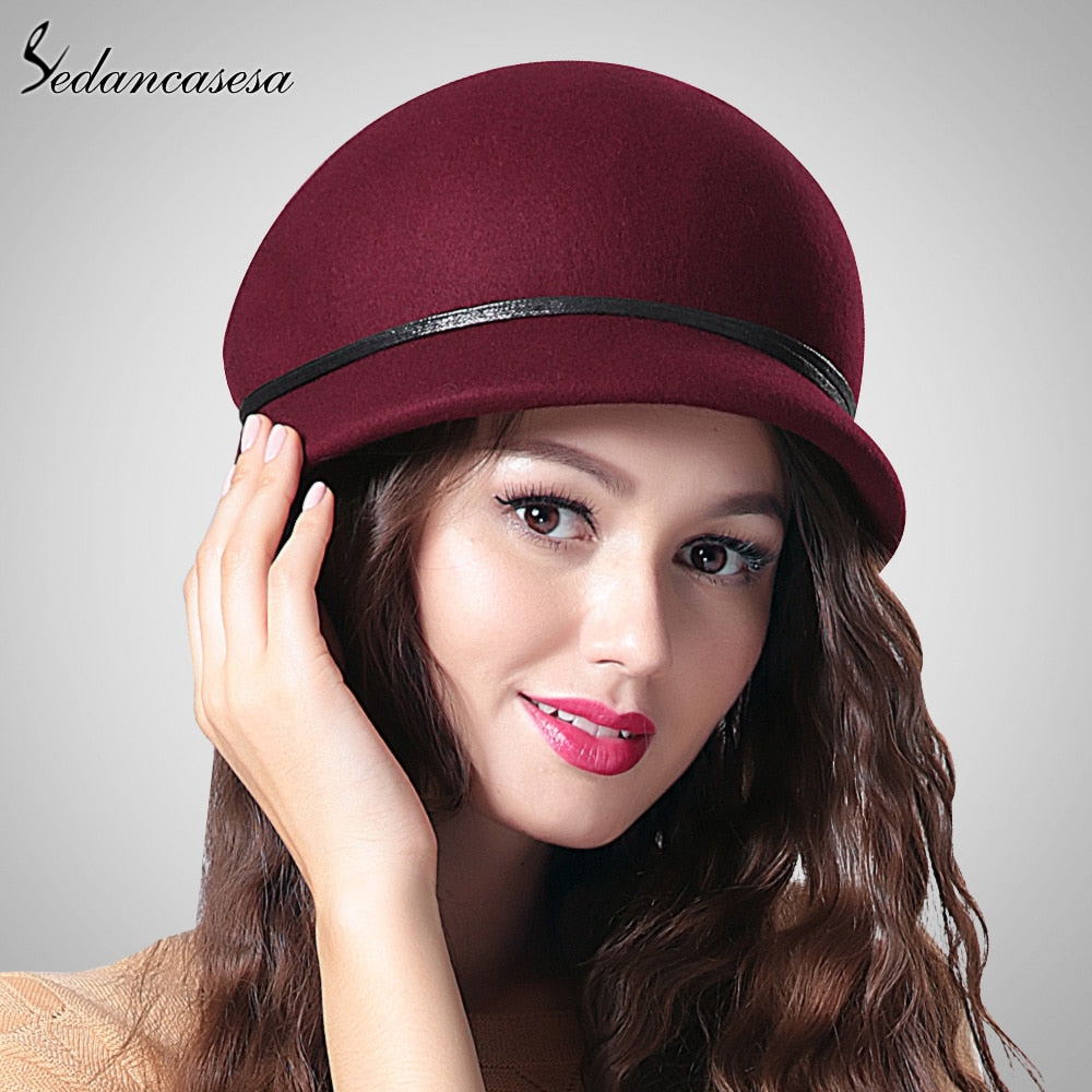 Sedancasesa Australian Wool Winter Beret Hat