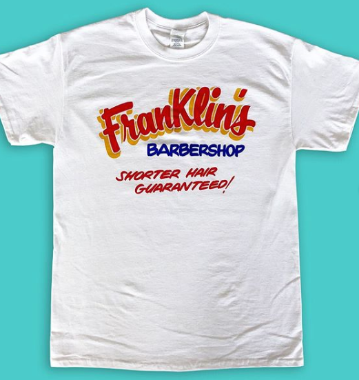 These Franklin's Barber Shop Tees are FIRE