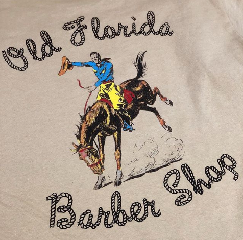 Old Florida Barber Shop Tees!