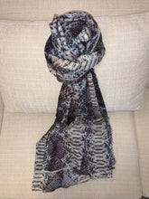 ANNA 100% Cashmere Animal Print Python in Cream Shawl