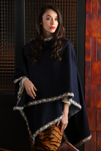 Olivia Stretch Denim with Chanel Trim Poncho