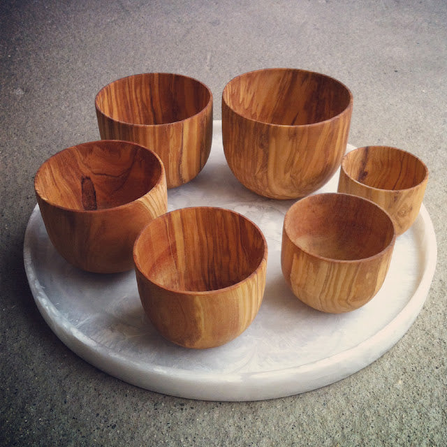 Roost Olive Wood Nesting Bowls