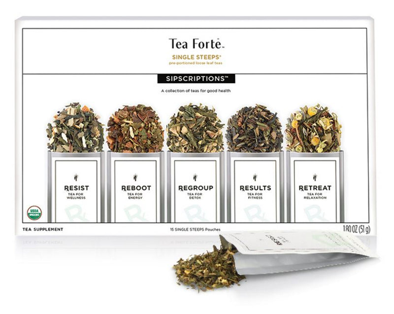 Tea Forte Sipscriptions Single Steeps Sampler