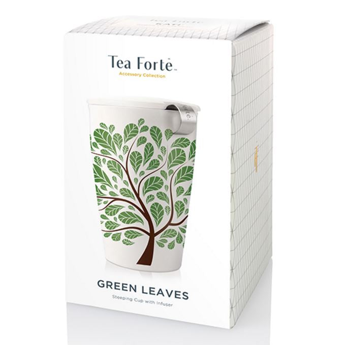Tea Forte KATI Steeping Cup - Green Leaves