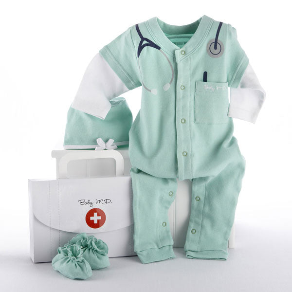 "Baby Aspen ""Big Dreamzzz"" Baby M.D. Three-Piece Layette Set"