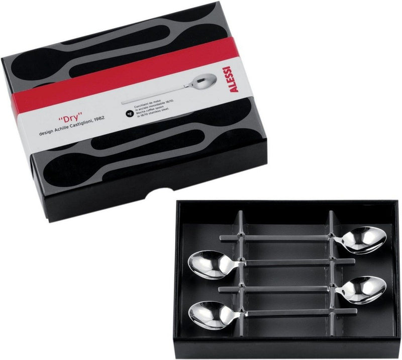 "Alessi ""Dry"" Mocha Coffee Spoons Set"