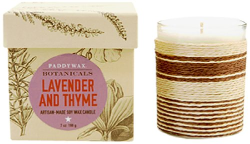 Paddywax Botanical Soy Wax Candle, Lavender Thyme