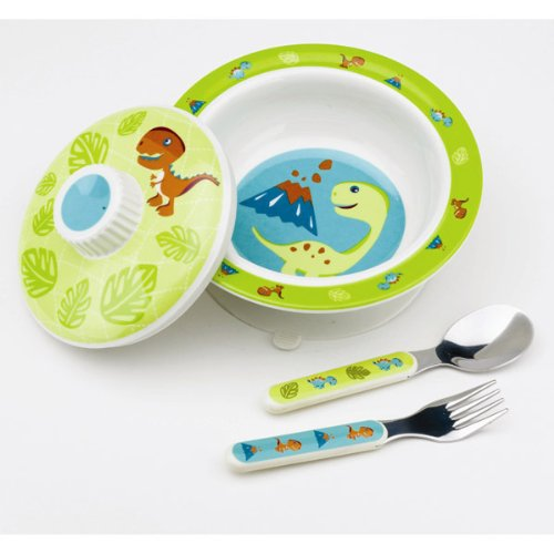 Oré Originals SugarBooger Prehistoric Pals Covered Suction Bowl Gift Set