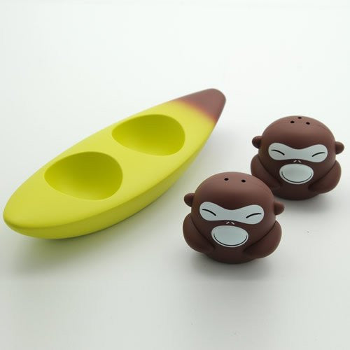 "Alessi ""Banana Bros"" Salt and Pepper Set"