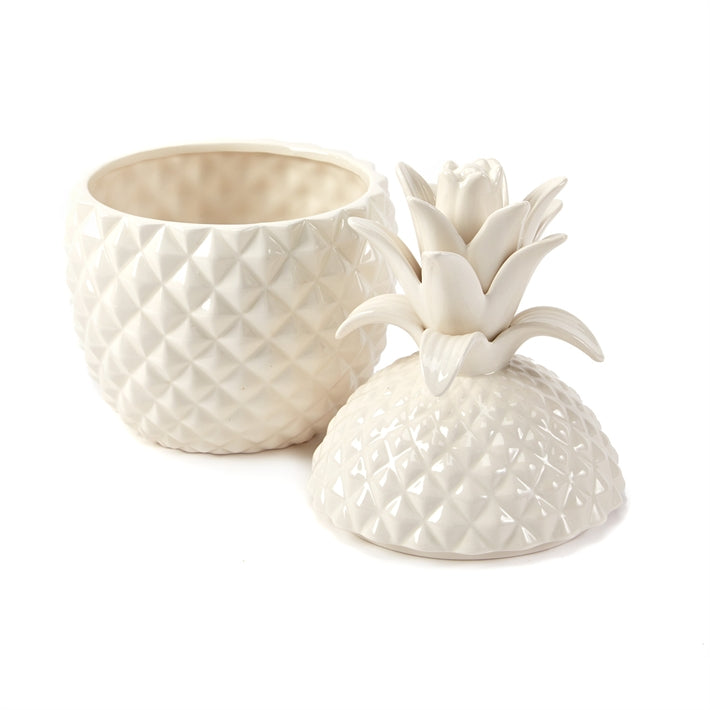 Two's Company Pineapple Hospitality Set of 2 Ceramic Jars