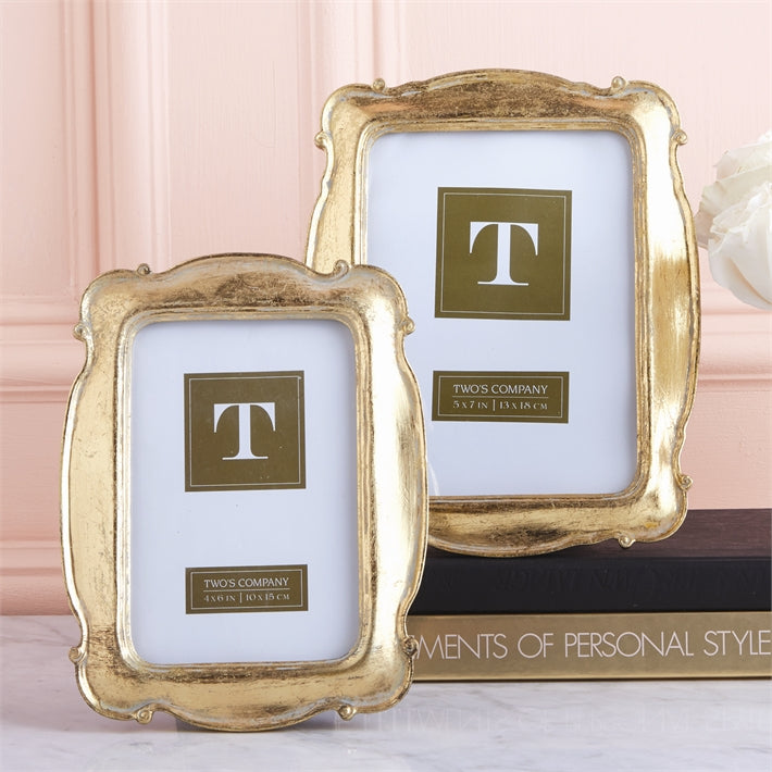 Two's Company  Versailles Set of 2 Gold Photo Frames
