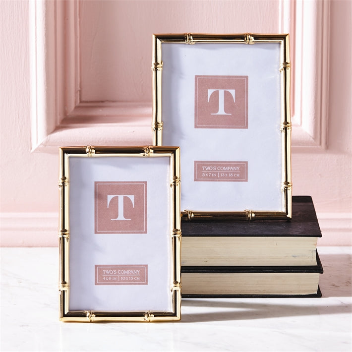 Two's Company S/2 Rose Gold Photo Frames