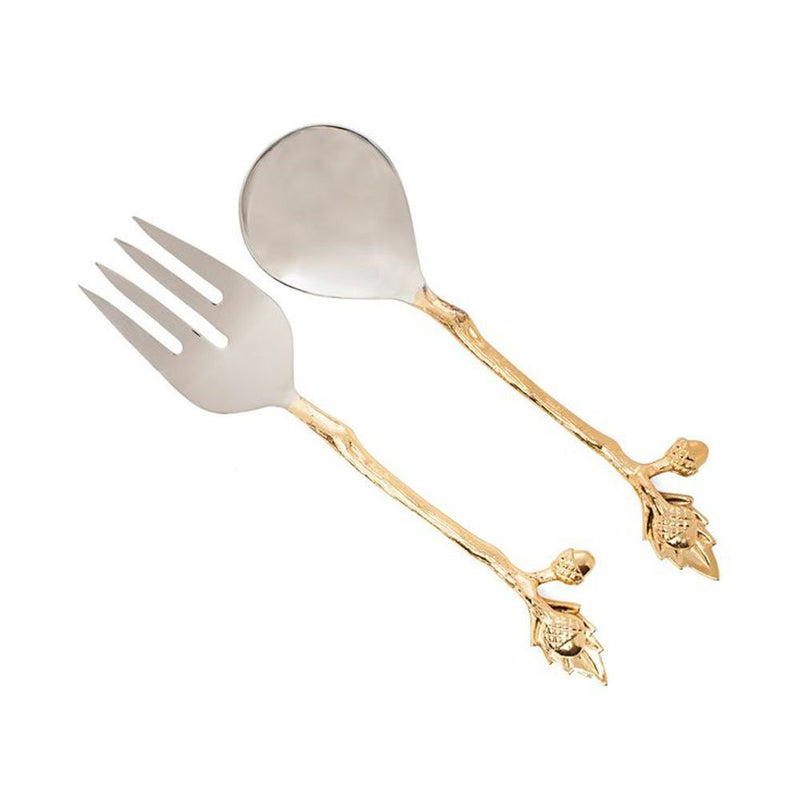 Two's Company Acorn Salad Server