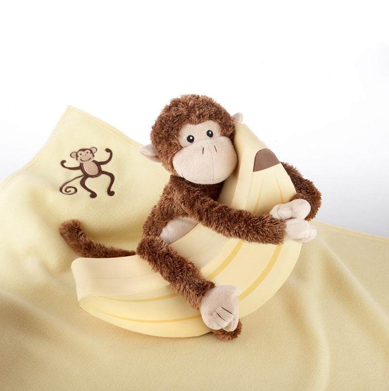 "Baby Aspen ""Monkey Magoo and Blankie Too"" Gift Set"