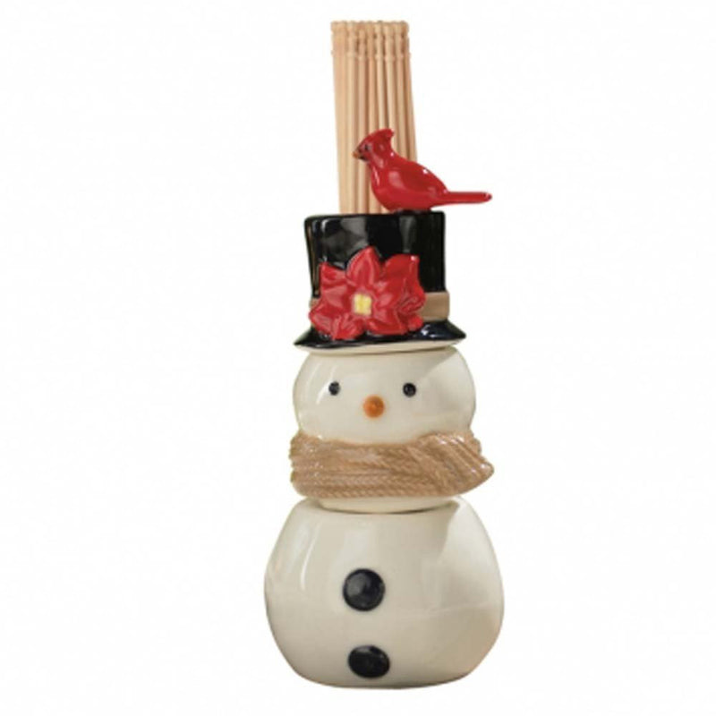 Grasslands Road Christmas Song Snowman Salt and Pepper Shaker and Toothpick Holder