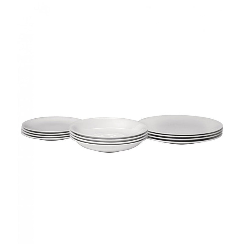 Alessi All-Time Table Set - 4 Dinning/Side Plates, Soup Bowls