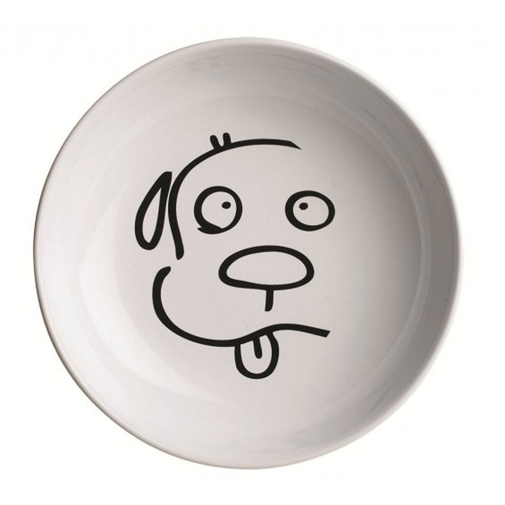 Oré Originals ORE' Pet Illustrated Dog Face Ceramic Bowl