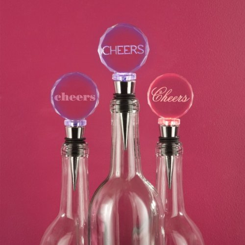 Two's Company Cheers LED Bottle Stoppers 3 of Set