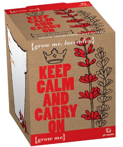 Gift Republic Grow Me Keep Calm and Carry On - Lavender