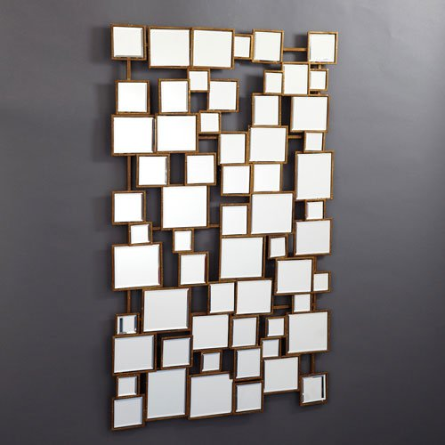 Two's Company Tozai Facets Square Wall Mirror