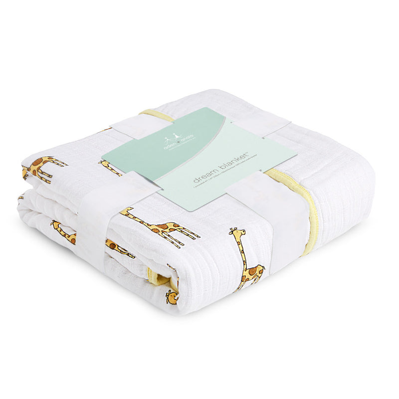 Aden + Anais Classic Dream Blanket- Jungle Jam, Giraffe