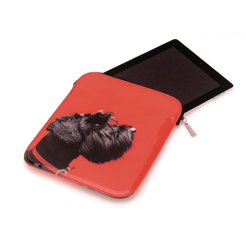 Catseye Terrier on Red - E-reader / Ipad Carrying Case / Sleeve