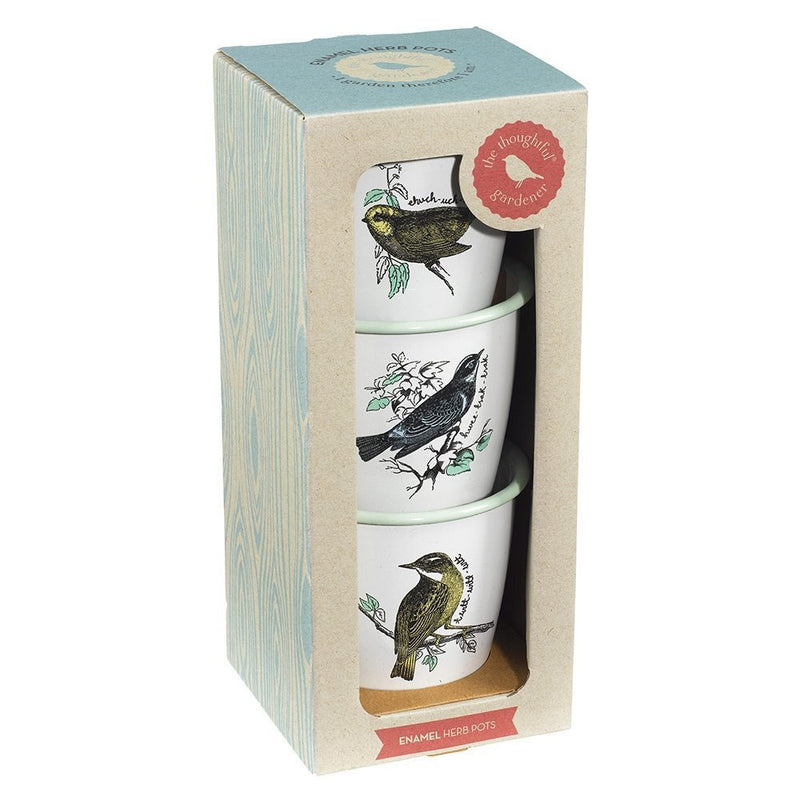 Wild & Wolf The Thoughtful Gardener Herb Pot Set