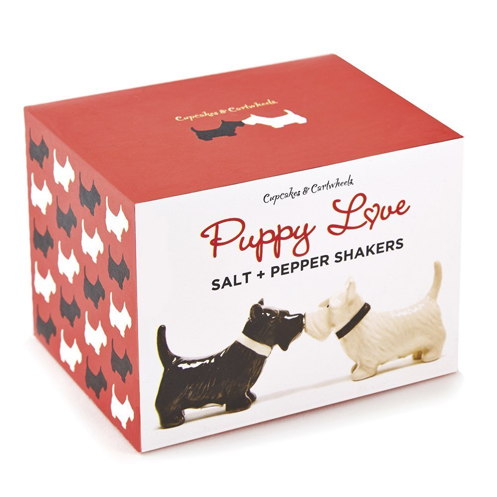 Two's Company Puppy Salt/Pepper Shaker Set