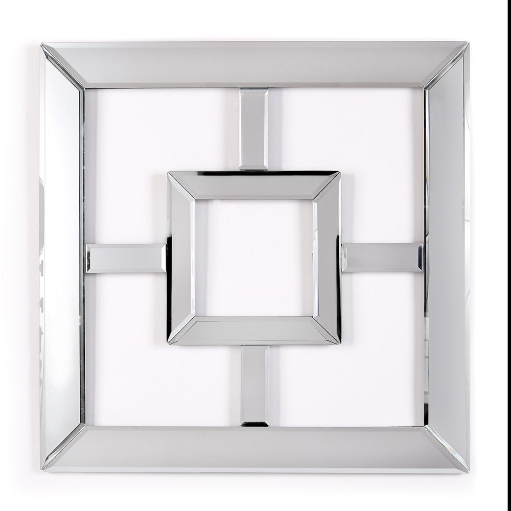 Two's Company Reflections Decorative Square Mirror