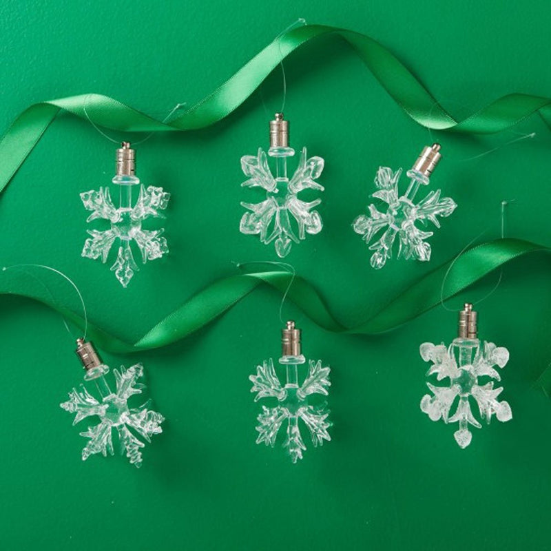 Two's Company Twinkle LED Snowflake Ornaments