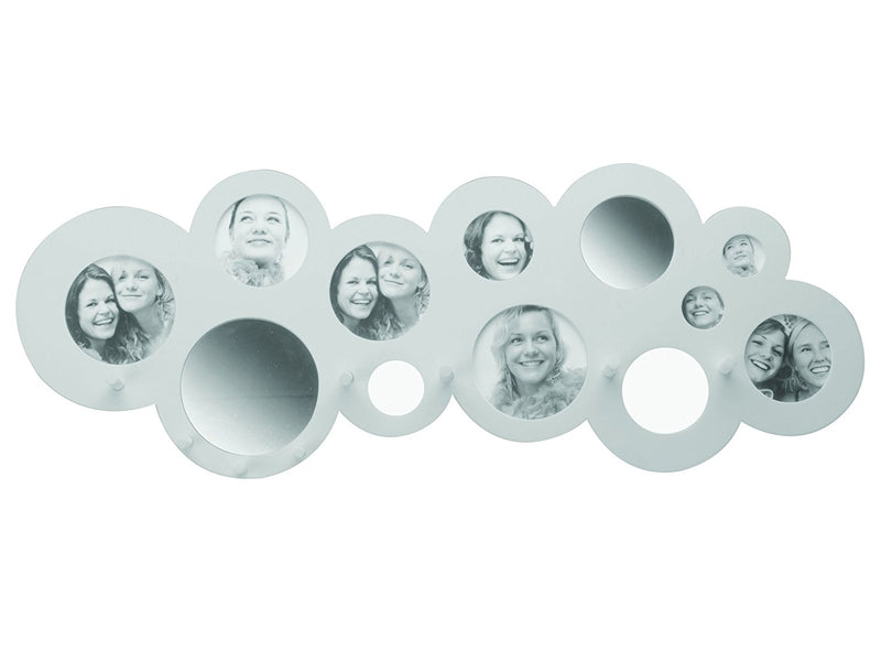 Present Time Cloud Hat Rack with Photo Frames and Mirrors