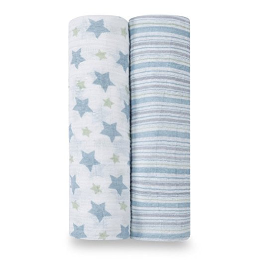 Aden + Anais Classic Muslin Swaddle Blankets 2-Pack - Prince Charming