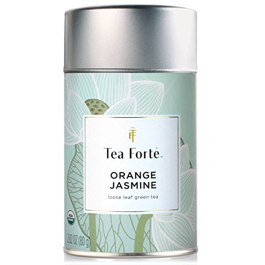 Tea Forte ORANGE JASMIN Organic Loose Leaf Green Tea, 2.82 Ounce Tea Canister